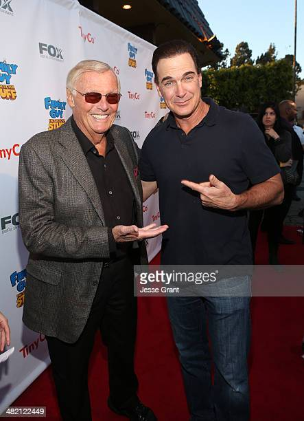 Actors Adam West and Patrick Warburton attend the FAMILY GUY The Quest For Stuff Los Angeles Premiere Party at The Happy Ending Bar Restaurant on...