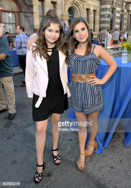 Actors Addison Riecke and Madisyn Shipman celebrate the 100th episode of Nickelodeon's The Thundermans at Paramount Studios on June 28 2017 in...
