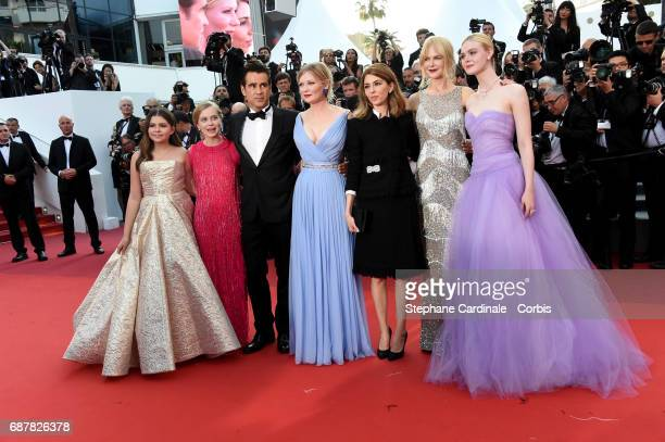 Actors Addison Riecke Angousie Rice Colin Farrell and Kirsten Dunst director Sofia Coppola and actors Nicole Kidman and Elle Fanning attend 'The...