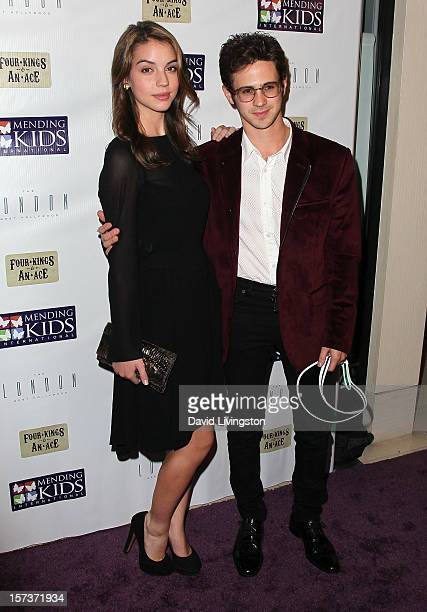 Actors Adelaide Kane and Connor Paolo attend Mending Kids International's 'Four Kings An Ace' Celebrity Poker Tournament at The London Hotel on...