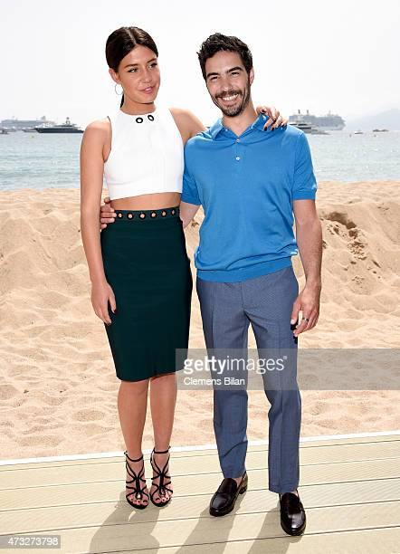 Actors Adele Exarchopoulos and Tahar Rahim attend the Tahar Rahim photocall during the 68th annual Cannes Film Festival on May 14 2015 in Cannes...