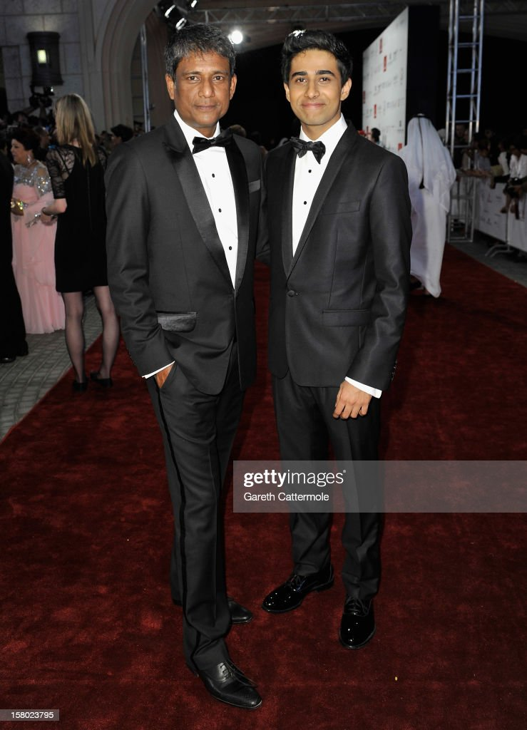 Actors Adil Hussain and Suraj Sharma attend the 'Life of PI' Opening Gala during day one of the 9th Annual Dubai International Film Festival held at the Madinat Jumeriah Complex on December 9, 2012 in Dubai, United Arab Emirates.