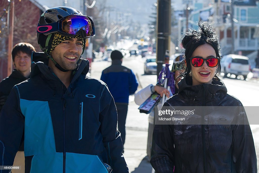 Actors Adrian Grenier (L) and Kristen Ritter attend Oakley Learn To Ride With AOL At Sundance Day 3 on January 19, 2014 in Park City, Utah.