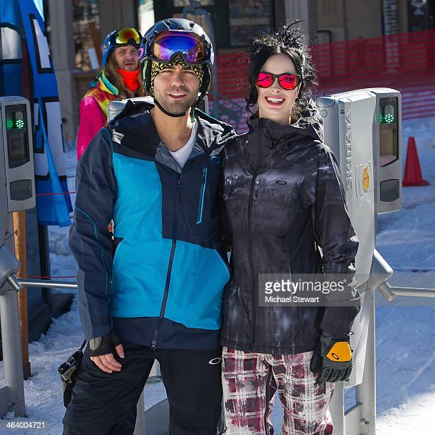 Actors Adrian Grenier and Krysten Ritter attend Oakley Learn To Ride With AOL At Sundance Day 3 on January 19 2014 in Park City Utah