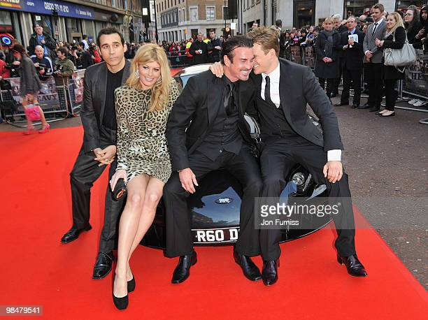 Actors Adrian Paul Meredith Ostrom Gary Stretch and Lee Ryan attend 'The Heavy' film premiere at the Odeon West End on April 15 2010 in London England
