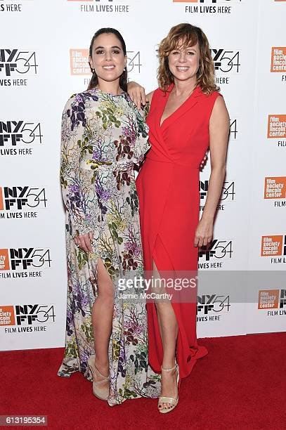 Actors Adriana Ugarte and Emma Suarez attend the 'Julieta' photo call during the 54th New York Film Festival at Alice Tully Hall on October 7 2016 in...