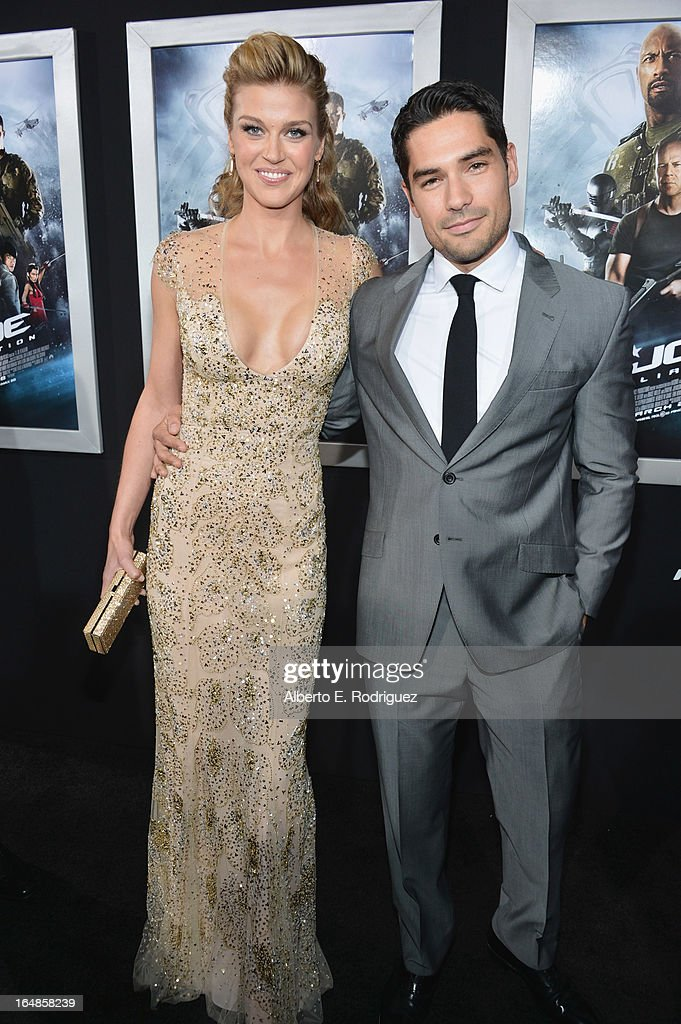 Actors Adrianne Palicki and D.J. Cotrona attend the premiere of Paramount Pictures' 'G.I. Joe: Retaliation' at TCL Chinese Theatre on March 28, 2013 in Hollywood, California.