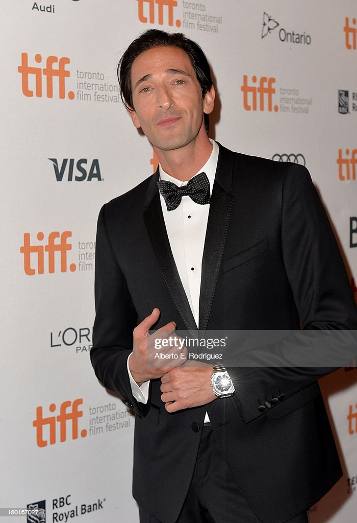 Actors <a gi-track='captionPersonalityLinkClicked' href=/galleries/search?phrase=Adrien+Brody&family=editorial&specificpeople=202175 ng-click='$event.stopPropagation()'>Adrien Brody</a> arrives at the 'Third Person' Premiere during the 2013 Toronto International Film Festival at The Elgin on September 9, 2013 in Toronto, Canada.