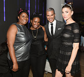 Actors Adrienne C Moore and Vicky Jeudy TV personality Jay Manuel and model Ann Markley attend ASPCA Young Friends Benefit at IAC Building on October...