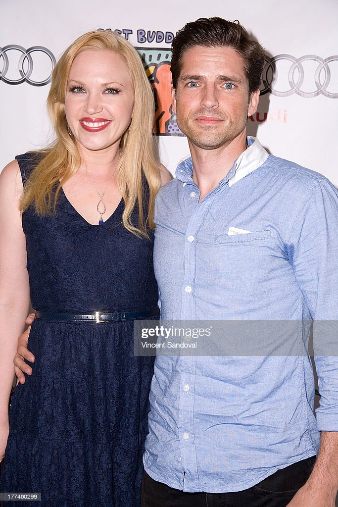 Actors Adrienne Frantz and Scott Bailey attend the Best Buddies poker event at Audi Beverly Hills on August 22, 2013 in Beverly Hills, California.