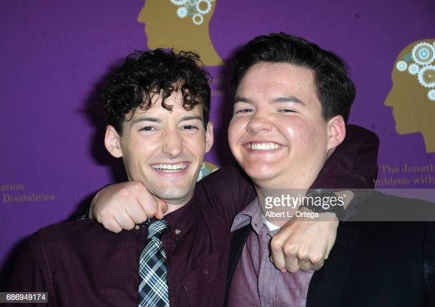 Actors Aedin Mincks and Austin Mincks arrive for The Jonathan Foundation Presents The 2017 Spring Fundraising Event To Benefit Children With Learning...