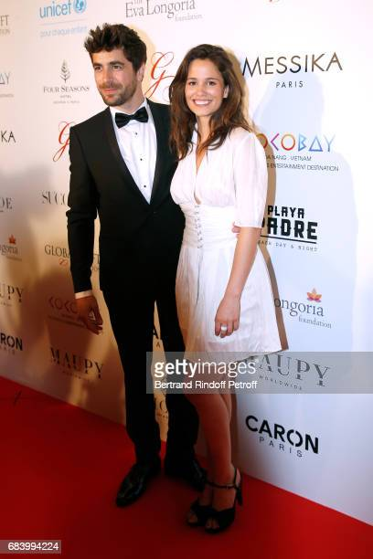 Actors Agustin Galiana and Lucie Lucas attend the 'Global Gift the Eva Foundation' Gala Photocall at Hotel George V on May 16 2017 in Paris France
