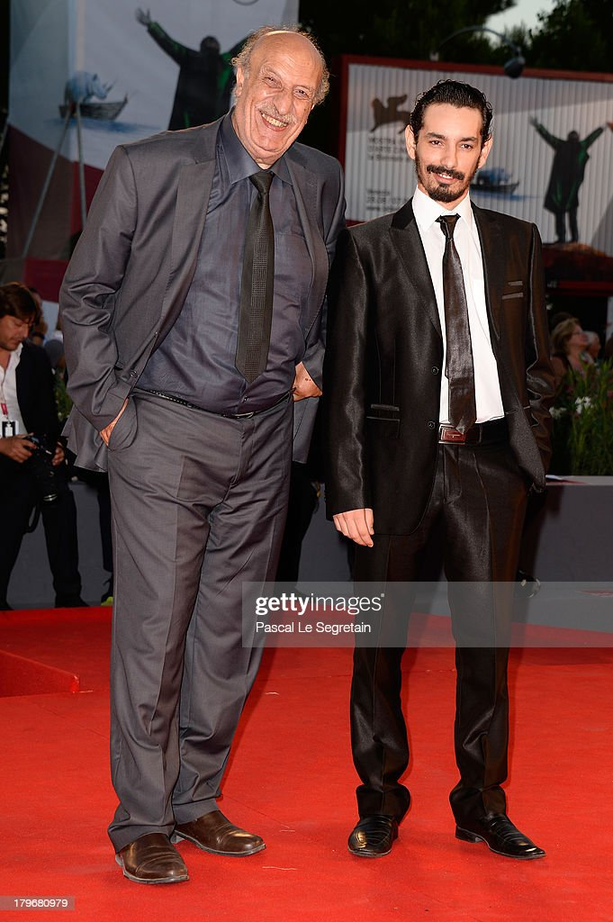 Actors Ahcene Benzerari and Nadjib Oulebsir attend 'Les Terrasses' Premiere during the 70th Venice International Film Festival at Palazzo del Cinema on September 6, 2013 in Venice, Italy.