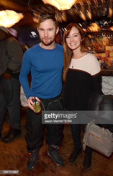 Actors Ahna O'Reilly and Brian Geraghty celebrate at the Oakley Learn To Ride in collaboration with New Era on January 18 2013 in Park City Utah