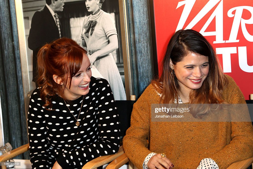 Actors Ahna O'Reilly and Melonie Diaz attend Day 1 of the Variety Studio at 2013 Sundance Film Festival on January 19, 2013 in Park City, Utah.