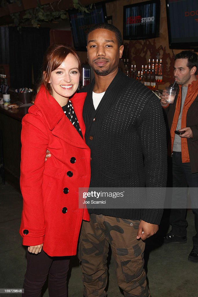 Actors Ahna O'Reilly and Michael B. Jordan attend Day 2 of the Variety Studio at 2013 Sundance Film Festival on January 19, 2013 in Park City, Utah.