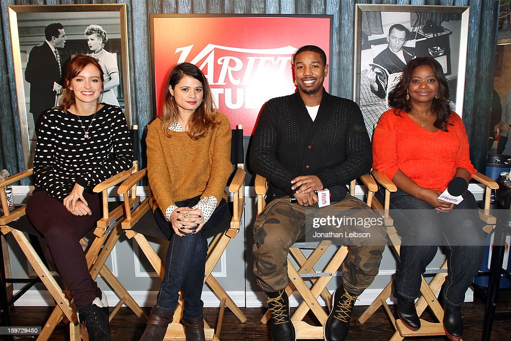Actors Ahna O'Reilly, Melonie Diaz, Michael B. Jordan and Octavia Spencer attend Day 1 of the Variety Studio at 2013 Sundance Film Festival on January 19, 2013 in Park City, Utah.