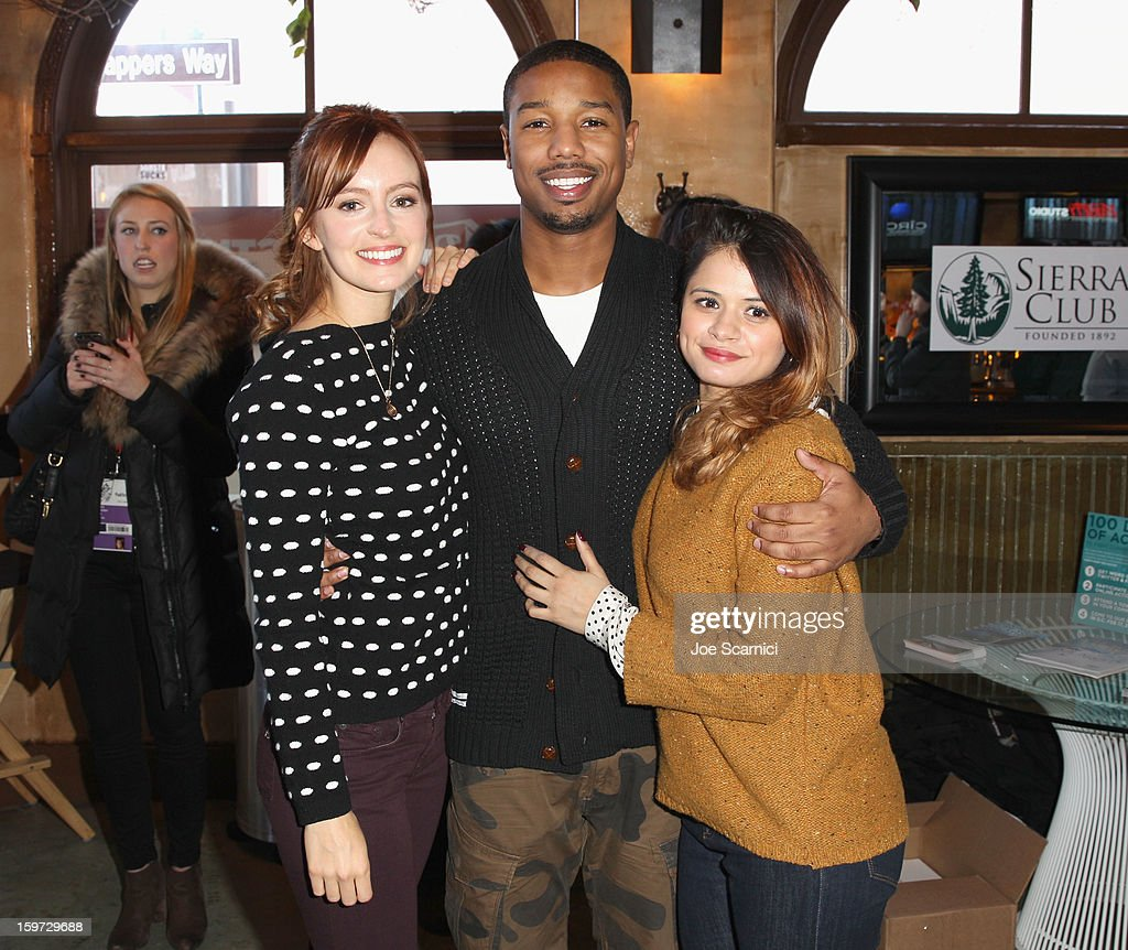 Actors Ahna O'Reilly, Michael B. Jordan and Melonie Diaz attend Day 1 of the Variety Studio at 2013 Sundance Film Festival on January 19, 2013 in Park City, Utah.