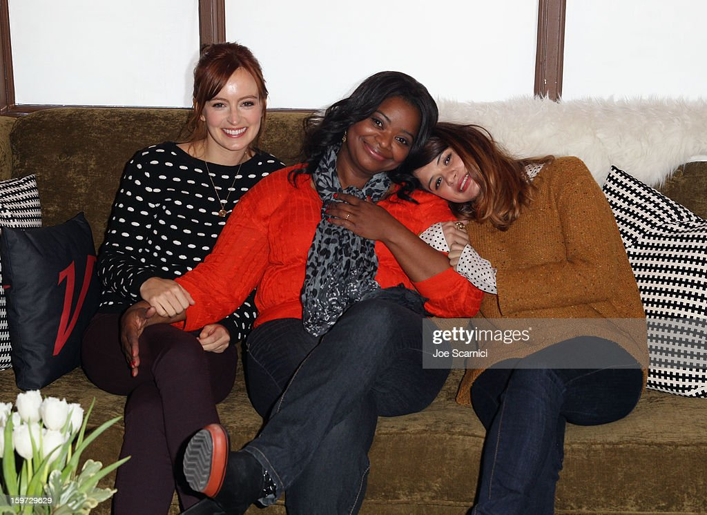 Actors Ahna O'Reilly, Octavia Spencer and Melonie Diaz attend Day 1 of the Variety Studio at 2013 Sundance Film Festival on January 19, 2013 in Park City, Utah.