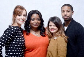 Actors Ahna O'Reilly Octavia Spencer Melonie Diaz and Michael B Jordan pose for a portrait during the 2013 Sundance Film Festival at the WireImage...