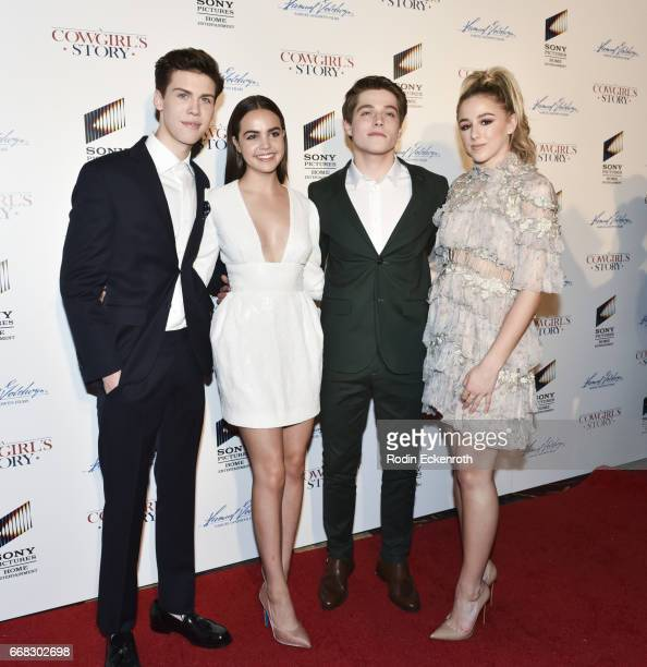 Actors Aidan Alexander Bailee Madison Froy Gutierrez and Chloe Lukasiak attend the premiere of Samuel Goldwyn Films' 'A Cowgirl's Story' at Pacific...