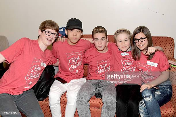 Actors Aidan Miner and Lance Lim from School of Rock Ricardo Hurtado from Glitch Techs Casey Simpson from Nicky Ricky Dicky Dawn and Madisyn Shipman...