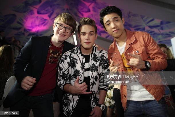 Actors Aidan Miner Ricardo Hurtado and Lance Lim attend Nickelodeon's 2017 Kids' Choice Awards at USC Galen Center on March 11 2017 in Los Angeles...