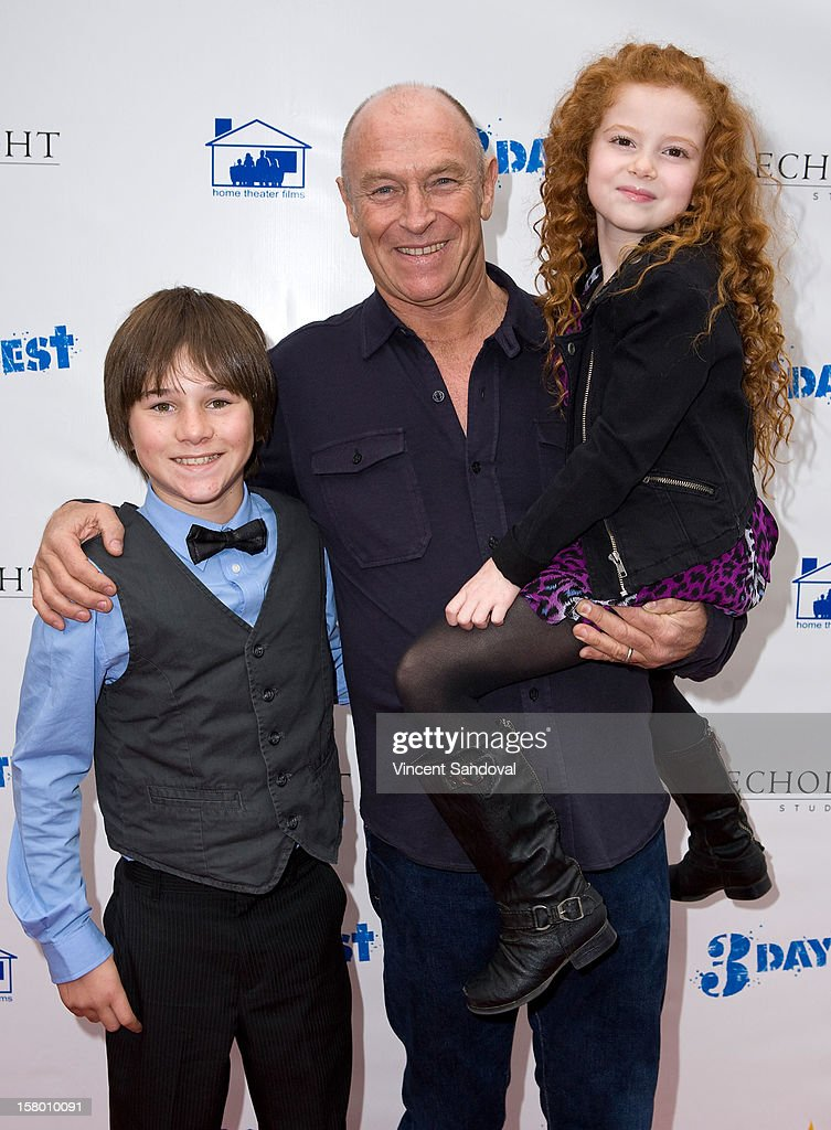 Actors Aidan Potter, <a gi-track='captionPersonalityLinkClicked' href=/galleries/search?phrase=Corbin+Bernsen&family=editorial&specificpeople=211428 ng-click='$event.stopPropagation()'>Corbin Bernsen</a> and Francesca Capaldi attend the Los Angeles Premiere of '3 Day Test' at Downtown Independent Theatre on December 8, 2012 in Los Angeles, California.