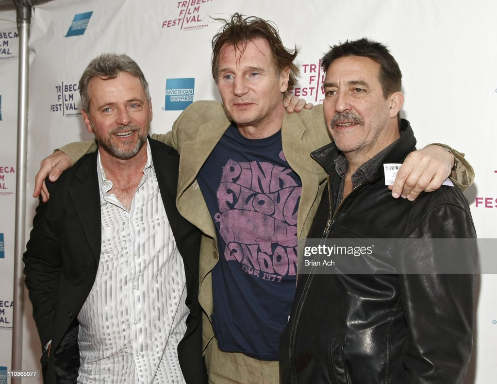 Actors Aidan Quinn Liam Neeson and Ciaran Hinds attend the 8th Annual Tribeca Film Festival 'The Eclipse' premiere at the SVA Theatre on April 24...