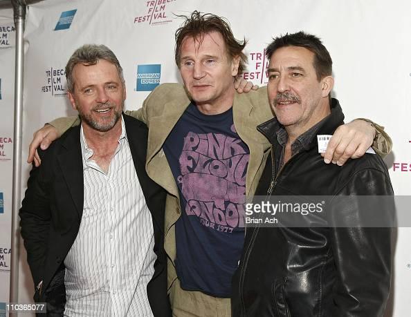 Actors Aidan Quinn Liam Neeson and Ciaran Hinds attend the 8th Annual Tribeca Film Festival 'The Eclipse' premiere at the SVA Theatre on April 24...