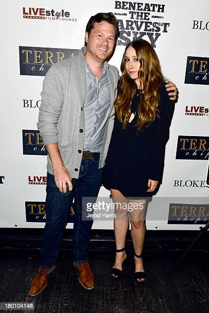 Actors Aiden Gillen and Sarah Sutherland attend the 'Beneath The Harvest Sky' cast party sponsored by TERRA during the 2013 Toronto International...