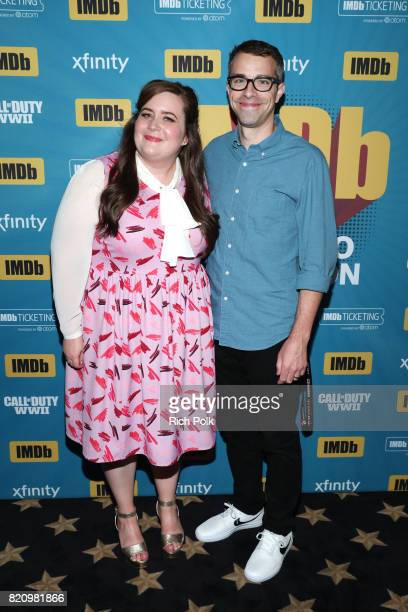 Actors Aidy Bryant and Erick Knobel on the #IMDboat at San Diego ComicCon 2017 at The IMDb Yacht on July 22 2017 in San Diego California