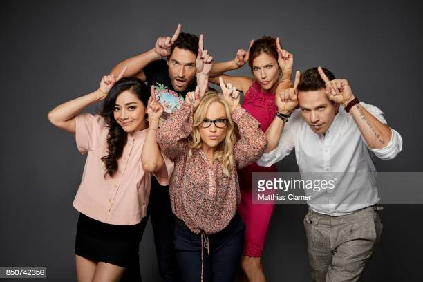 Actors Aimee Garcia Tom Ellis Rachael Harris Tricia Helfer and Kevin Alejandro from Lucifer are photographed for Entertainment Weekly Magazine on...