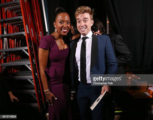 Actors Aisha Tyler and Chandler Massey attend The 41st Annual Daytime Emmy Awards at The Beverly Hilton Hotel on June 22 2014 in Beverly Hills...