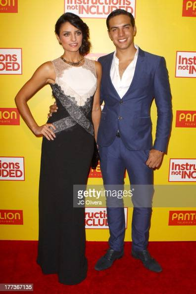 Actors Aislinn Derbez and Vadhir Derbez attend Los Angeles Premiere of 'Instructions Not Included' at TCL Chinese Theatre on August 22 2013 in...