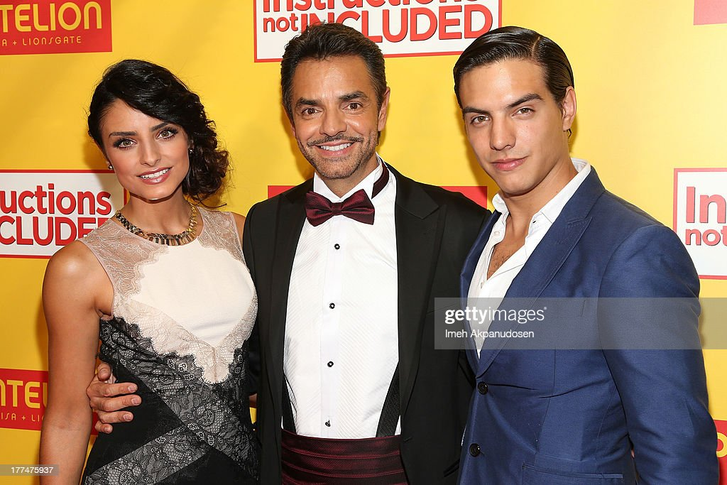 Actors Aislinn Derbez, <a gi-track='captionPersonalityLinkClicked' href=/galleries/search?phrase=Eugenio+Derbez&family=editorial&specificpeople=580445 ng-click='$event.stopPropagation()'>Eugenio Derbez</a>, and <a gi-track='captionPersonalityLinkClicked' href=/galleries/search?phrase=Vadhir+Derbez&family=editorial&specificpeople=7165513 ng-click='$event.stopPropagation()'>Vadhir Derbez</a> attend the premiere of Pantelion Films' 'Instructions Not Included' at TCL Chinese Theatre on August 22, 2013 in Hollywood, California.
