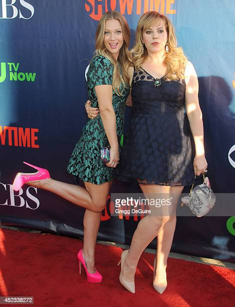 Actors AJ Cook and Kirsten Vangsness arrive at the 2014 Television Critics Association Summer Press Tour CBS CW And Showtime Party at Pacific Design...