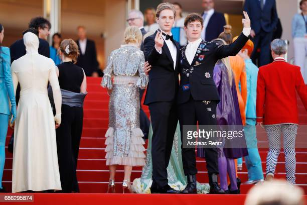 Actors AJ Lewis Alex Sharp and the cast of the movie attend the 'How To Talk To Girls At Parties' screening during the 70th annual Cannes Film...
