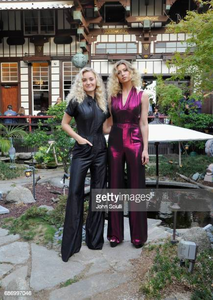 Actors AJ Michalka and Aly Michalka at the Wolk Morais Collection 5 Fashion Show at Yamashiro on May 22 2017 in Los Angeles California