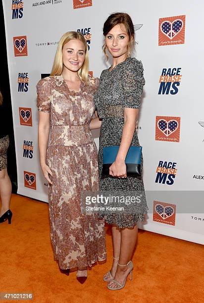 Actors AJ Michalka and Aly Michalka attend the 22nd Annual Race To Erase MS Event at the Hyatt Regency Century Plaza on April 24 2015 in Century City...