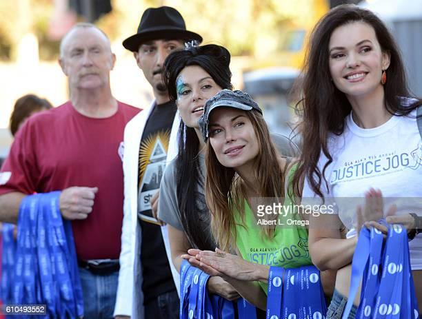 Actors Al Burke Alexis Iacono Jon Mack and Natasha Blasick participate in the 2016 Justice Jog 5K to benefit Casa LA on September 25 2016 in Los...