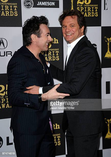 Actors Alan Cumming and Colin Firth arrive at the 25th Film Independent's Spirit Awards held at Nokia Event Deck at LA Live on March 5 2010 in Los...