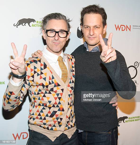 Actors Alan Cumming and Josh Charles attend The Rainforest Action Network Benefit at The Cutting Room on February 17 2013 in New York City