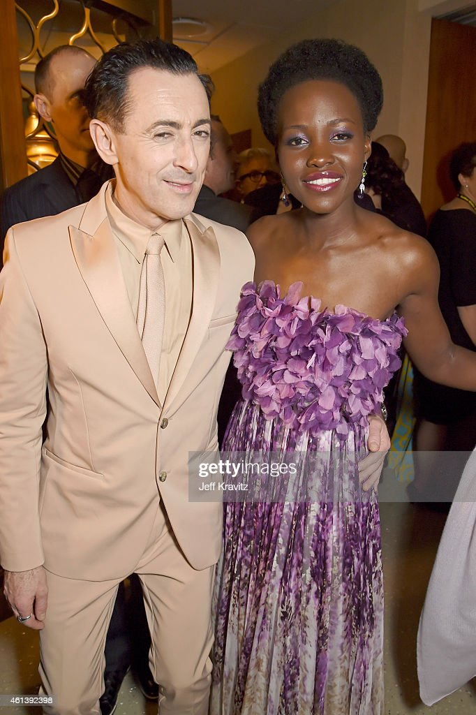 Actors Alan Cumming and Lupita Nyong'o attend HBO's Official Golden Globe Awards After Party at The Beverly Hilton Hotel on January 11 2015 in...