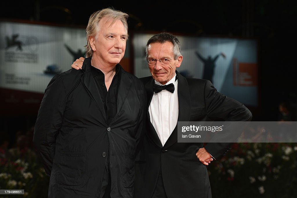 Actors Alan Rickman and director Patrice Leconte attend the 'Une Promesse' Premiere during the 70th Venice International Film Festival at Sala...