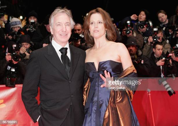 Actors Alan Rickman and Sigourney Weaver attend the Opening Night of the 56th Berlin International Film Festival on February 9 2006 in Berlin Germany