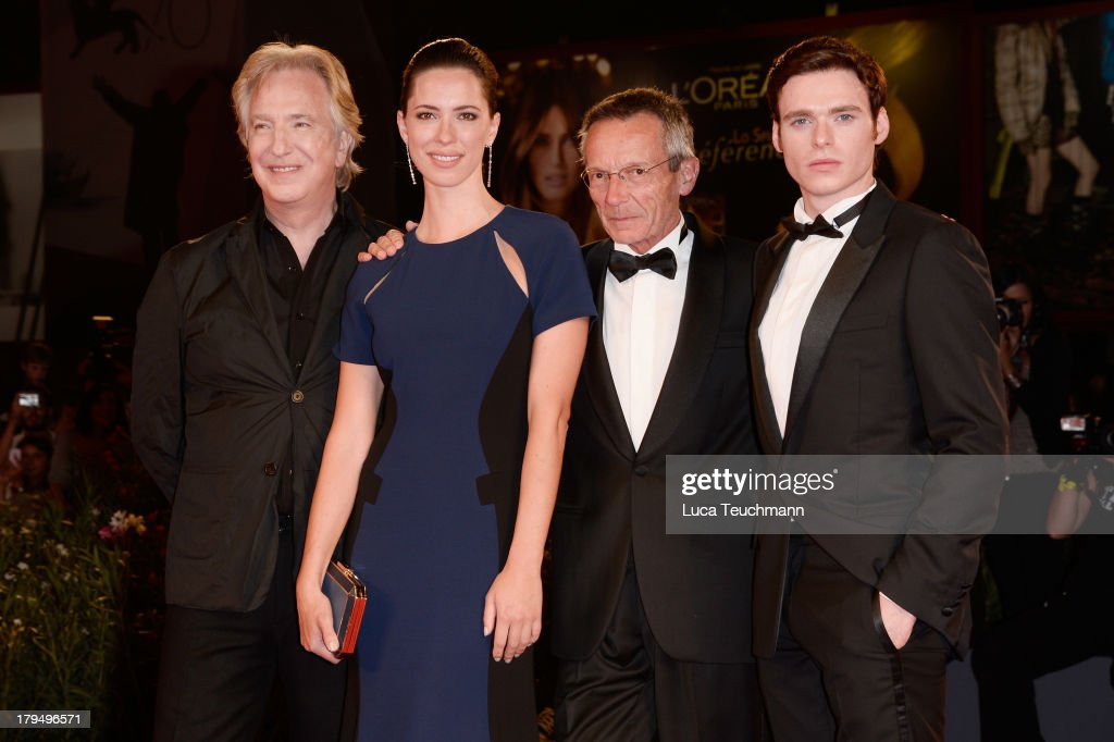 Actors Alan Rickman Rebecca Hall director Patrice Leconte and actor Richard Madden attend 'Une Promesse' Premiere during the 70th Venice...