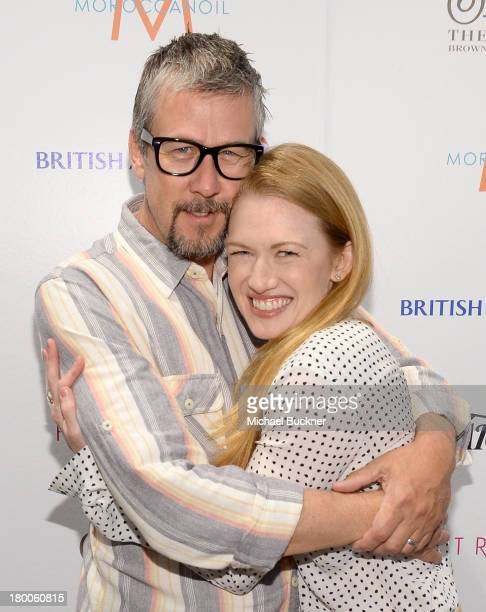 Actors Alan Ruck and Mireille Enos attend the Variety Studio presented by Moroccanoil at Holt Renfrew during the 2013 Toronto International Film...