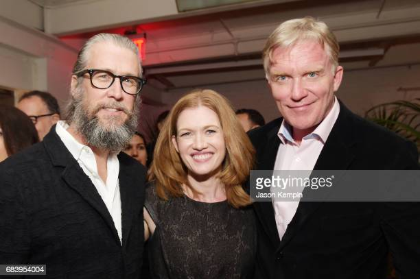 Actors Alan Ruck Mireille Enos and Anthony Michael Hall attend a special screening of the Netflix original film 'War Machine' at The Metrograph on...