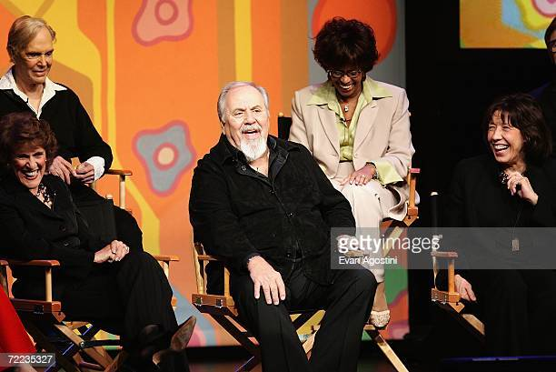 Actors Alan Sues Ruth Buzzi producer George Schlatter Chelsea Brown and Lily Tomlin attend the 'Laugh In' cast reunion at the Mohegan Sun 10th...